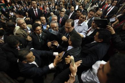 La discusión de la reforma energética en San Lázaro. Foto: Germán Canseco